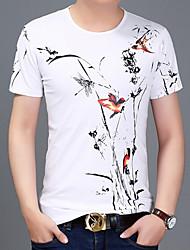 baratos -Homens Camiseta Estampado, Geométrica