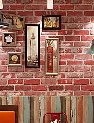 Χαμηλού Κόστους -ταπετσαρία Οξικό Κάλυψης τοίχων - κόλλα που απαιτείται Τούβλο