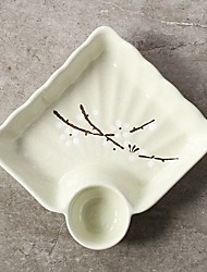 tanie -1 zestaw Talerze płytkie Naczynia Porcelana żaroodporne
