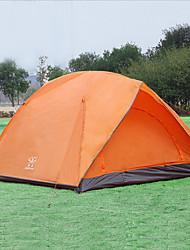 Недорогие -6 человек Палатка с экраном от солнца Семейный кемпинг-палатка На открытом воздухе С защитой от ветра Дожденепроницаемый Воздухопроницаемость Двухслойные зонты Самораскрывающаяся палатка Палатка