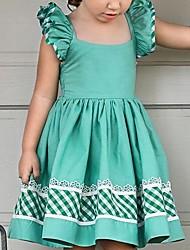 hesapli -Bebek Genç Kız Temel Solid Kolsuz Pamuklu Elbise Yonca