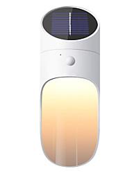 billige -1pc 0.5 W Solar Wall Light Solar / Nyt Design / Dekorativ Varm hvid 3.7 V 1 LED Perler