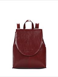 abordables -Mujer Bolsos Cuero mochila Cremallera Negro / Marrón Oscuro / Wine
