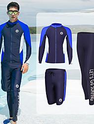 halpa -JIAAO Miesten Skin-tyyppinen märkäpuku Sukelluspuvut UV-aurinkosuojaus Lyhythihainen Uinti Patchwork Kesä / Erittäin elastinen