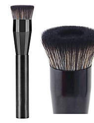 abordables -Profesional Pinceles de maquillaje 1 pieza Profesional Suave Cobertura completa sintético Pelo Sintético Plástico para Cepillo para Base Brocha de maquillaje