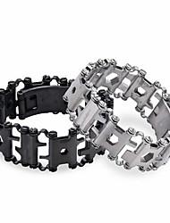 Недорогие -человек на открытом воздухе сращенный браслет leatherman многофункциональный браслет из нержавеющей стали 29 в 1 многофункциональный инструмент браслет выживания браслет