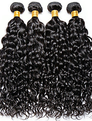 Недорогие -4 Связки Индийские волосы Волнистые 100% Remy Hair Weave Bundles Человека ткет Волосы Пучок волос One Pack Solution 8-28inch Естественный цвет Ткет человеческих волос Милый стиль Модный дизайн Подарок