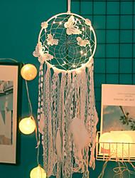 Недорогие -ловцы снов ручной работы светодиодные фонари перо настенные украшения