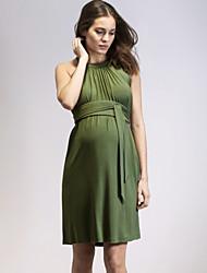 abordables -Mujer Básico Vaina Vestido Un Color Sobre la rodilla