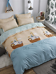 cheap -Duvet Cover Sets Cartoon / Contemporary Polyster Printed 4 PieceBedding Sets