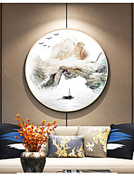 cheap -Framed Canvas Prints - Abstract Landscape Plastic PS Sketch Wall Art