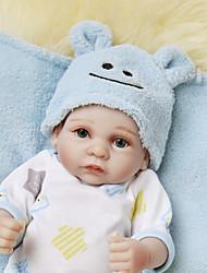 Недорогие -NPKCOLLECTION NPK DOLL Куклы реборн Кукла для девочек Мальчики Девочки 12 дюймовый Полный силикон для тела Винил - как живой Подарок Искусственные имплантации Голубые глаза Детские