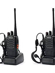Недорогие -Baofeng bf-888s аккумуляторная большая дальность 5 Вт двухстороннее радио рации 16-канальное портативное радио встроенный светодиодный фонарик + гарнитура портативный портативный uhf400-470 мГц