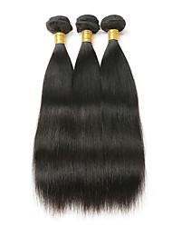 olcso -3 csomag Maláj haj Egyenes Kémiai anyagoktól mentes / nyers Az emberi haj sző Bundle Hair Egy Pack Solution 8-28 hüvelyk Természetes szín Emberi haj sző Szagmentes Sima Legjobb minőség Human Hair