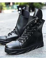 Недорогие -Муж. Танцевальные сапожки Полиуретан Кроссовки На плоской подошве Танцевальная обувь Белый / Черный / Черный / белый