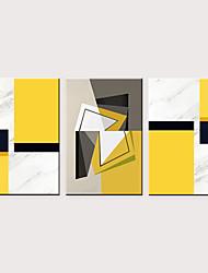 levne -Grafika Válcované plátno - Moderní Šípy a geometrie Klasické Tři panely