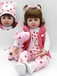 Недорогие -Куклы реборн Девочки 18 дюймовый Силикон - Дети / подростки Детские Универсальные Игрушки Подарок