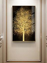 Недорогие -золото дерево ботанические принты роскошный стиль в рамке стены искусства
