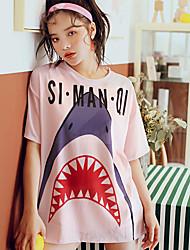 رخيصةأون -نسائي بدلات الغطس العميق حماية من الأشعة فوق البنفسجية متنفس خفيف جدا (UL) نايلون نصف كم ملابس السباحة ملابس الشاطئ ملابس السباحة لوحات 3قطع سباحة / عالية المرونة