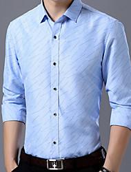 economico -Camicia Per uomo A pois Blu marino XXL