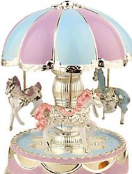 Недорогие -новинка яркий купол круглая карусель мелодия музыкальная шкатулка ночной свет лампы декор комнаты