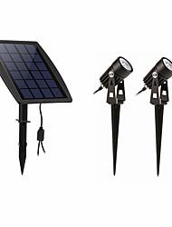billige -1pc 2 W plen Lights Vanntett / Solar / Mulighet for demping Hvit 3.7 V Utendørsbelysning 2 LED perler