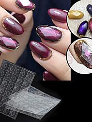 economico -1 pcs Design speciale Plastica Strass geometrici Per Unghia della mano Creativo manicure Manicure pedicure Quotidiano Alla moda / Semplice