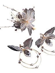 お買い得  -チュール ヘッドピース とともに 人造真珠 1個 結婚式 / 誕生日 かぶと
