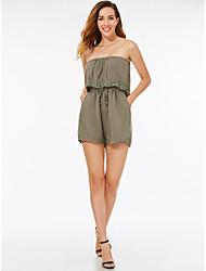 Χαμηλού Κόστους -Ολόσωμη φόρμα Στράπλες Κοντό / Μίνι Ζέρσεϊ Φόρεμα με με LAN TING Express