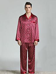 levne -Pánské Košilový límec Kostýmy Pyžama Geometrický