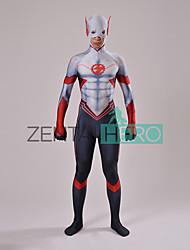 preiswerte -Superheld Cosplay Kostüme Erwachsene Herrn Cosplay Halloween Halloween Karneval Maskerade Fest / Feiertage Elasthan Lycra Grau Karneval Kostüme Einfarbig