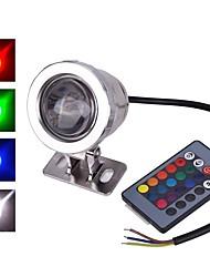 Недорогие -1шт 10 W LED прожекторы Водонепроницаемый / Дистанционно управляемый / Инфракрасный датчик RGB 12 V / 85-265 V Уличное освещение / двор / Сад 1 Светодиодные бусины / Диммируемая