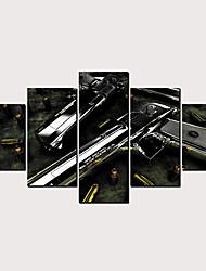 Недорогие -С картинкой Роликовые холсты - Армия Модерн Классика Modern 5 панелей