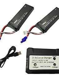 Недорогие -Hubsan H501S H501C X4 7.4V 2700mAh 1 комплект батарея