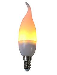 Недорогие -1шт 3 W LED лампы типа Корн 250 lm E14 C35L 29 Светодиодные бусины SMD 2835 Для вечеринок Декоративная Пламя мерцания Тёплый белый 85-265 V / RoHs