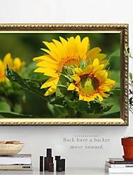 tanie -Kwiatowe / Roślinne Dekoracja ścienna Włókniny / poliuretanu Pasterskie Wall Art, Malowanie diamentami Dekoracja