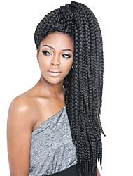 """ieftine -Păr de Împletit  Drept Împletituri Jumbo Păr Sintetic 3 Piese păr Trese Culoare naturală 24 inch 24"""" Rezistent la Căldură / sintetic / Păr 100% kanekalon Zilnice Afacerea din Africa"""