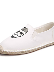 cheap -Men's Comfort Shoes Canvas Summer Loafers & Slip-Ons White / Black