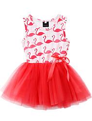 お買い得  -子供 / 幼児 女の子 動物 ドレス ルビーレッド