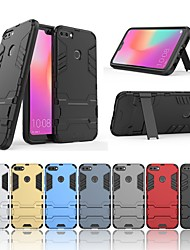 cheap -Case For Huawei Honor 9 Shockproof / with Stand Back Cover Solid Colored / Armor Hard PC for Huawei Honor 9i