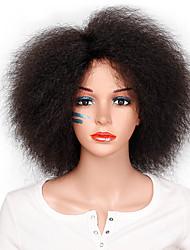 abordables -Pelucas sintéticas Afro / Ondulado Grande Minaj Estilo Corte Bob Sin Tapa Peluca Plata Marrón Oscuro Pelo sintético 12INCH Mujer Libre de Olores / Ajustable / Resistente al Calor Plata / Marrón Peluca
