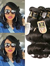 olcso -3 csomag Brazil haj Hullámos haj 100% Remy hajszövési csomó Az emberi haj sző Bundle Hair Emberi haj tincsek 8-28 hüvelyk Természetes szín Emberi haj sző Legjobb minőség Hot eladó Divat Human Hair