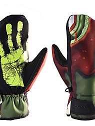 Недорогие -Лыжные перчатки Муж. Снежные виды спорта Полный палец Зима С начесом Снежные виды спорта Зимние виды спорта