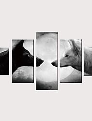 preiswerte -Druck Gerollte Leinwand Aufgespannte Leinwandrucke - Klassisches Thema Modern Klassisch Modern Fünf Panele