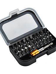 abordables -JAKEMY 31 in 1 Cajas de herramientas Juego de Herramientas Kit de herramientas Reparaciones en el hogar Juego de destornilladores