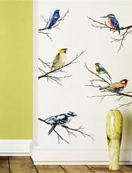 Недорогие -Личность спальня кабинет украшения цвет ветка птица самоклеящиеся стикеры стены наклейки искусство гостиной исследование обои наклейки