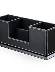 billige -lagring organisasjon børste sett pu lær rektangel form avdekket / single-layer / bærbar