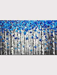 billige -styledecor håndmalt abstrakt blå skogsoljemaleri på lerret for hjemmedekorasjon