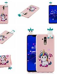 halpa -Etui Käyttötarkoitus Huawei Huawei Honor 8X / Honor 9 Lite Kuvio Takakuori Eläin / Piirretty Pehmeä TPU varten Huawei Honor 9 Lite / Huawei Honor 8X / Honor 7A