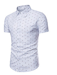 cheap -Men's Shirt - Polka Dot White XL